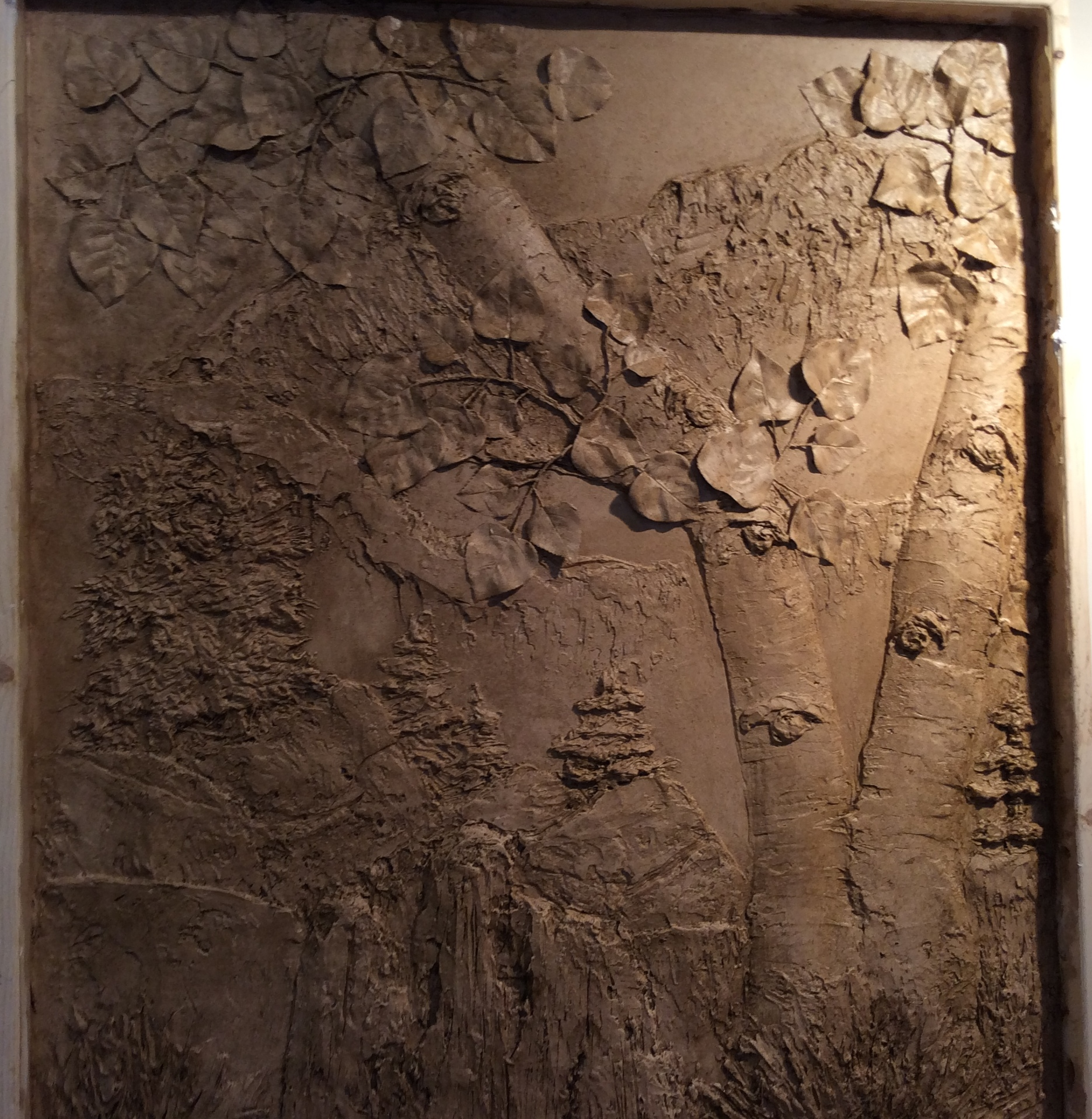Cookie Hanson From Tour De Faux Displays New Bas Relief Sculpture At